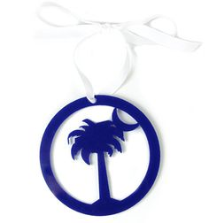 Stay true to your Carolina roots with this palm and moon acrylic ornament, customize it with coordinating ribbon and find just the right look for your tree.