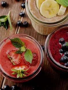 If you are a person who is always on the go and need a breakfast that will keep away hunger pangs till lunch hour, then protein smoothies is the answer. Read the given information to learn some delicious protein smoothie recipes. Protein Smoothie Recipes, Protein Breakfast, Favorite Recipes, Lunch, Healthy, Ethnic Recipes, Food, Protein Shake Recipes, Meal