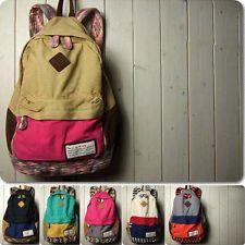 Hot Women Girl Cool color-Matching Bag Schoolbag Bookbag Backpack Bags