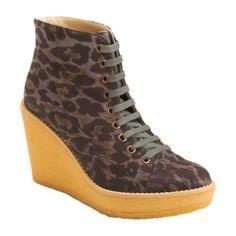 Stella McCartney leopard lace-up booties!!