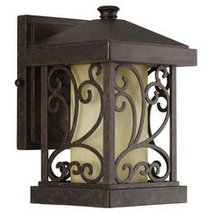 Progress Lighting Cypress Collection 1 Light 10 In Outdoor Forged Bronze Wall Lantern P5928 77 The Home Depot
