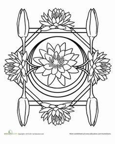water mandala coloring pages | Fruit and Veggie Mandala #1 | School Work for summer ...