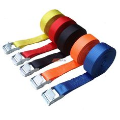Tie Down Straps With Metal Cam Buckle. Capacity: Maximum load limit 200kg!. 1x Cam Buckle Strap. Clasp size:App 3cm x4cm. Long enough and powerful to tie things. Tie width: 2.5cm. | eBay!