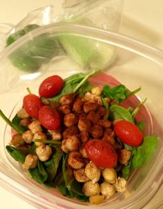 Vegan chickpea and chili powder salad! Follow me on my Vegan 21 Day Fix journey! I'll post vegan recipes and daily updates on my progress through my first VEGAN round of the 21 Day Fix!