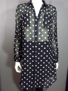 Old Navy Polka Dot Blouse / Dress - Size M #OldNavy #BlouseDress #Career