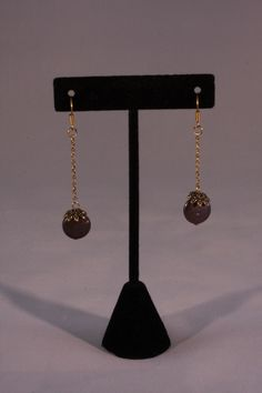 Bronze drop earrings. Mountain Laurel Boutique