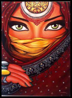 Best 11 DIY Diamond Painting woman fantasy Home Decor Full Drill Nation Picture Of Rhinestone Mosaic Dia – SkillOfKing. African Art Paintings, Modern Art Paintings, Madhubani Art, Madhubani Painting, Rajasthani Painting, Indian Folk Art, India Art, Pastel Art, Mandala Art