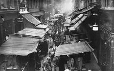 The bustling market on Berwick Street in the heart of London's Soho district, 1933