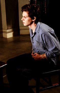 Evan Peters as Kit Walker in American Horror Story: Asylum...