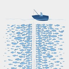 217 Finicky Fish Art Print by Elise Stella   Society6
