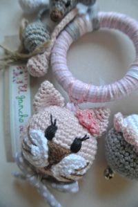 ༺༺༺♥Elles♥Heart♥Loves♥༺༺༺ ........♥Crochet Amigurumi♥........ #Amigurumi #Patterns #Crochet #Softies #Childrens #Toys #Handmade #Teddy #Doll #Tutorial #Patterns #Collectable~ ♥Beautiful Crochet Work By El Gancho De Lola Rattle