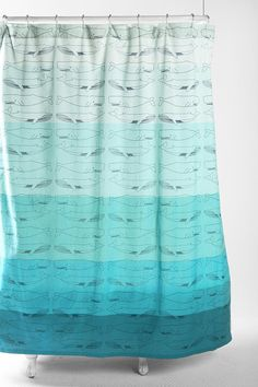 Just ordered this for the new downstairs bath.  Of course,  should have ordred it yesterday when it wasn't backordered until July!  Whales Shower Curtain  #UrbanOutfitters