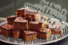 resepti: suklaiset maapähkinävoipalat - Colour me !