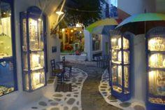Cobbled street in Skiathos Town