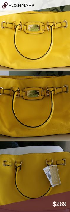 Michael Kors new w/ tags handbag Michael Kors handbag in a pretty yellow with long strap and gold chain accent. Very spacious inside with side pockets and dual compartments. Perfect for work, casual, or dressed up! Michael Kors Bags