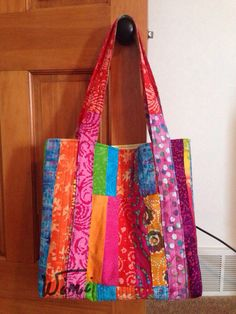 Summertime batik quilted tote