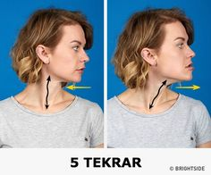 The better way to get rid of a double chin is generally through diet and exercise. If you would like to lose weight your chin area, there are several Yoga Facial, Facial Muscles, Reduce Double Chin, Double Chin Exercises, Face Exercises, Oval Faces, Tips Belleza, Eat Right, Reduce Weight