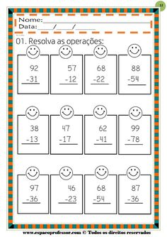 Double Digit Adding & Subtracting w/ NO regrouping Spring Printables Touch Math, 2nd Grade Math Worksheets, Math Sheets, Tracing Letters, Writing Numbers, Math Addition, Second Grade Math, School Items, 100 Days Of School