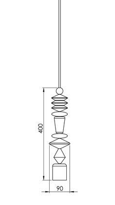 "Bright Beads ""Aztek"" pendant light - product images  of"