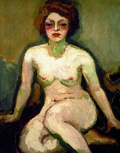 Kees Van Dongen - La femme blonde (nu assis), 1907-1909.