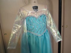 Elsa costume for Hattie. Line in fleece for more warmth and less tantrums