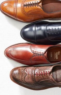 Fall dress shoes for him: Allen Edmonds Oxfords #fashion #men #shoes