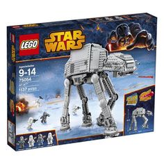 Mfr #: 6061437, Recommended Age: 9 to 14 Years, Includes 5 minifigures: AT-AT Driver, General Veers, Snowtrooper Commander, and 2 Snowtroopers, Features a moving head with a cockpit for 2 minifigures, 2 spring - loaded shooters, and an electrobinoculars element, Weapons include a blaster pistol and 3 blaster rifles, Also includes a posterNumber Of Pieces: 1137 Choking Hazard: Yes Recommended Age: 9 to 14 Years. - Eli Walmart has for $39.00