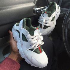3df315492486 Nike Gucci Drops the Air Huarache Ultra Sports shoes White green