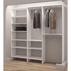 TidySquares White Wood Reach-in Closet Organizer (White)(Laminate) Linen Closet Organization, Closet Storage, Attic Storage, Wood Closet Organizers, Modular Storage, Bookcase Storage, Cupboard Shelves, Closet Rod, Master Closet