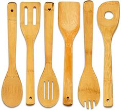 Home-Restaurant 6-Piece Bamboo Cooking Utensil-Set $5.49 (amazon.com)