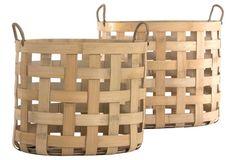 Asst. of 2 Haida Bamboo Baskets