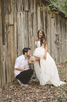 Our Barn Wedding Photography | Rustic Wedding | Bride and Groom Garter Pose