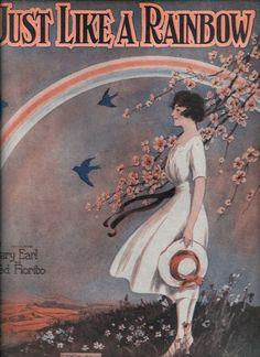 Vintage sheet music, c. 1930