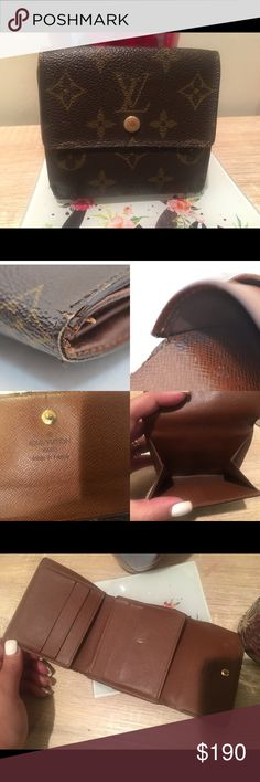 Louis vuitton wallet Authentic LV wallet in Really good used condition. Was not able to take a better pic of the date code but it is SP1011 made in France. It does have a coin pocket in the Back. I am open to offers :) 10W x 10H Louis Vuitton Bags Wallets