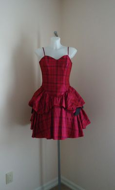 Available @ TrendTrunk.com Betsey Johnson Pink Plaid Prom Party Dress NWT . By Betsey Johnson. Only $33.00!