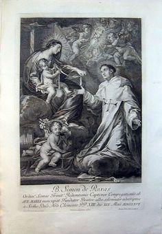 G. 68 Título: El Beato Simón de Rojas Pintor: Preciado de la Vega, Francisco (Real Academia de Bellas Artes de la Purísima Concepción - Colección de Grabados