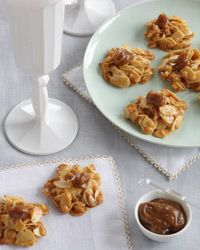 Dulce de Leche Crispies Recipe on Food & Wine.....going to make this in my mini muffin tin so they don't flatten out as per a review.