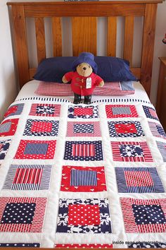 Patchwork Blanket Ideas Quilt Blocks 43 New Ideas Quilt Baby, Cot Quilt, Baby Quilt Patterns, Patchwork Patterns, Quilting Patterns, Owl Patterns, Quilting Ideas, Baby Quilts For Boys, Simple Quilt Pattern