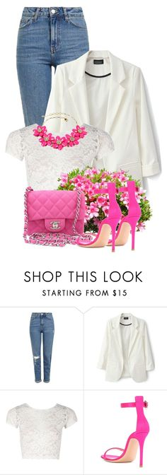 """""""Spring 2018"""" by sally92 ❤ liked on Polyvore featuring Topshop, Boohoo, Chanel, Gianvito Rossi, Amrita Singh, spring2018 and winter2018"""