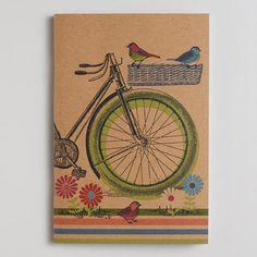 Bike and Bird Kraft Journal on Wanelo