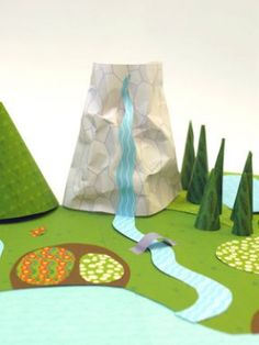 Paper world    Customize your own outdoor scene for your kids' favourite animals.    Get the craft here: mrprintables.com