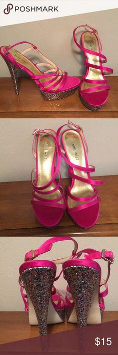 Nine West heels Confetti sparkle heels. Worn once. Heel is 6 inches. Nine West Shoes Heels