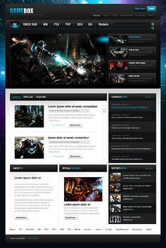 The Best Gaming Website Images On Pinterest Website Template - Gaming website template