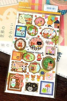 Kawaii Japanese Decor Sticker Set
