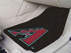 "MLB - Arizona Diamondbacks 2-pc Carpet Car Mat Set 17"""" X 27"""""