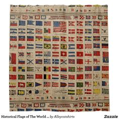 Historical Flags of The World (1869) Shower Curtain