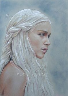 Emilia Clarke As Daenerys Targaryen Fine Art Pencil