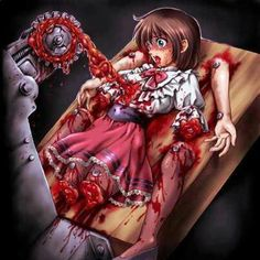 That's really disturbing. The Crow, Scary Photos, Creepy Pictures, Arte Horror, Horror Art, Manga Anime, Anime Art, Ero Guro, Horror Drawing