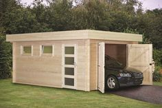Great design for a shed—with both regular and wide doors.