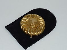Ladies Compact by Estee Lauder Gold brushed Lions by designfinder, $22.00